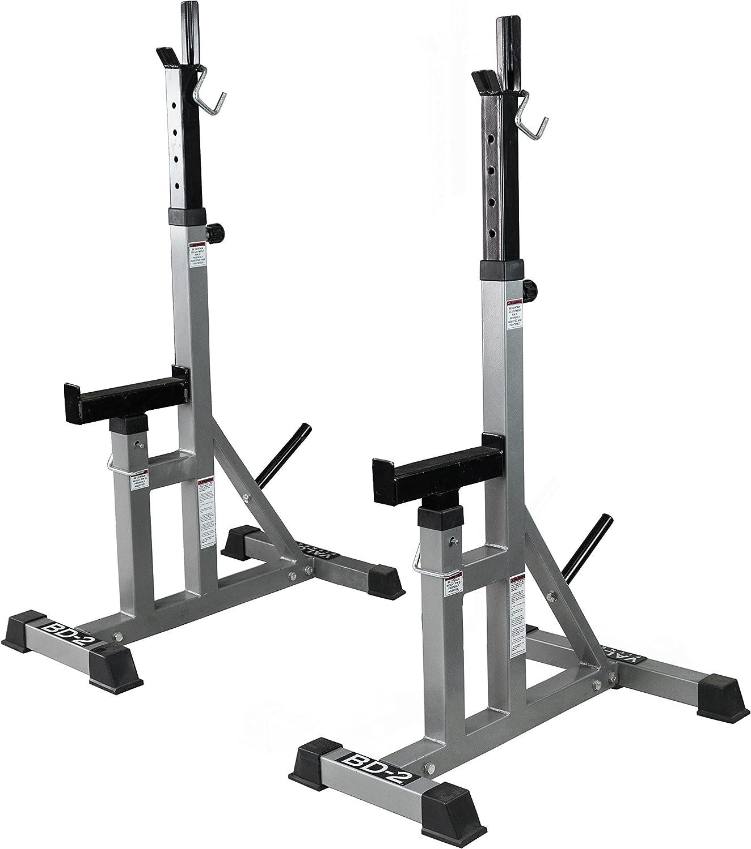 Valor Fitness BD2 Independent Bench Press Stands, Pewter