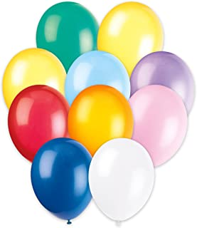 """Unique Party 80149-12"""" Latex Assorted Colour Balloons, Pack of 10"""