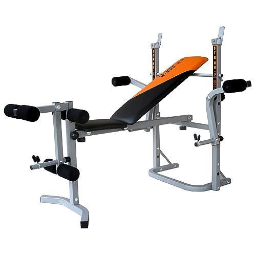 V-Fit Banc de musculation avec unité pour le travail des jambes et des  pectoraux e5ba14fdf136