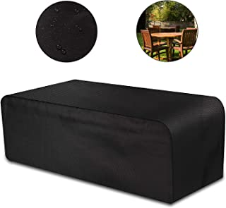 Mixhomic Furniture Cover, Garden Furniture Covers - Heavy Duty 420D Oxford Fabric, Waterproof PVC Rectangular Windproof and Anti-UV, for Sofas and Chairs - Black (67