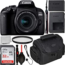 $589 Get Canon EOS 800D DSLR Camera with 18-55mm is STM Lens & Starter Accessory Bundle – Includes: SanDisk Ultra 32GB SDHC Memory Card + Camera Carrying Case + Ultraviolet Filter + Lens Cap Keeper + More