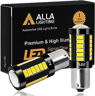 Alla Lighting 2800lm 7506 1156 LED White LED Bulbs Xtreme Super Bright BA15S 7506 1156 LED Bulb 5730 33-SMD LED 1156 Bulb for Back-Up Reverse/Turn Signal/Brake Stop Tail Lights, 6000K Xenon White