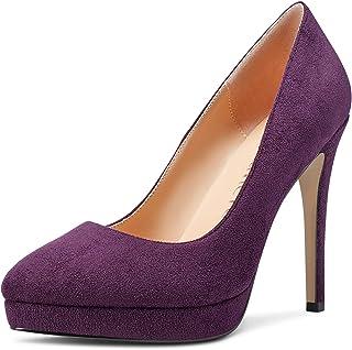 CASTAMERE Escarpins Plateforme Femme Mode Aiguille Talon Hauts 12CM Heel Shoes