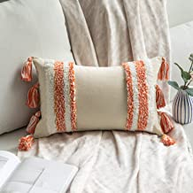 MIULEE Decorative Throw Pillow Cover Tribal Boho Woven Tufted Pillowcase with Tassels Super Soft Rectangle Pillow Sham Pil...