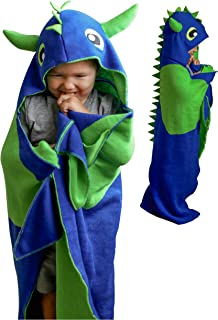 Wearable Hooded Blanket Kids Dinosaur Tail Blanket - Dinosaur Hoodie Blanket, Dragon Wearable Blanket for Boys - Comfy Kids Hooded Blankets