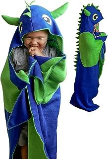 Wearable Hooded Blanket Kids Dinosaur Tail Blanket - Dinosaur Hoodie Blanket, Dragon Wearable Blanket for Boys - Comfy Kids Hooded Blankets