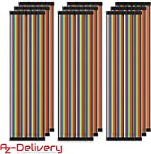 AZDelivery 3 x Jumper Wire Cables de Puente 3 x 40 Piezas Pines Macho a Macho, Hembra a Hembra, Macho a Hembra para Arduino y Raspberry Pi Breadboard