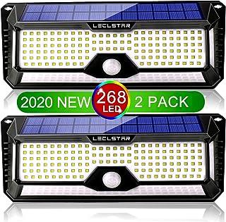 Solar Outdoor Lights,Motion Sensor New Upgrade 268 LEDs Solar Security Light IP65 Waterproof Led Outdoor Lights Super Brig...