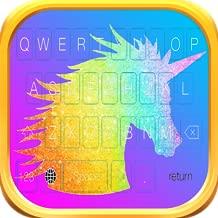 Rainbow Unicorn Glitter Keyboard