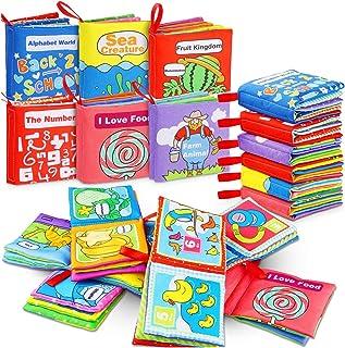 comprar comparacion Libros Blandos para Bebé, RenFox Libro de Tela Bebe No Tóxicos Libro Activity Bebé Anti-Tear Aprendizaje y Educativo Tempr...