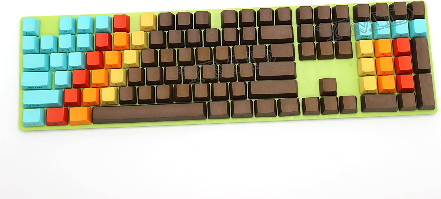 108 Key 1976 Mixed Color OEM Over item handling for Profile Easy-to-use Dyed PBT Keycaps Thick