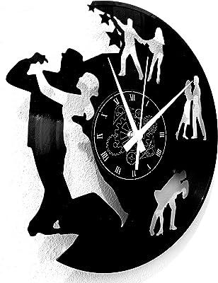 Reloj de pared de vinilo Vintage Handmade Amueblar Hogar Oficina ...
