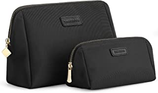 CHICECO Handy Cosmetic Pouch Clutch Makeup Bag Black (Small+Large)