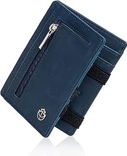 2pcs Mini Portefeuille Hommes en cuir véritable avant Pocket Credit Card
