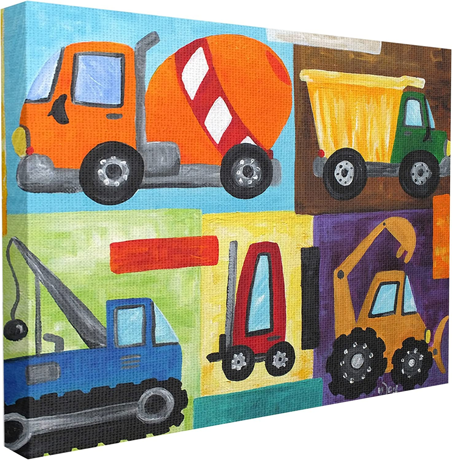 The Kids Room by Stupell Construction Trucks Set Wall Plaque, 24 x 30