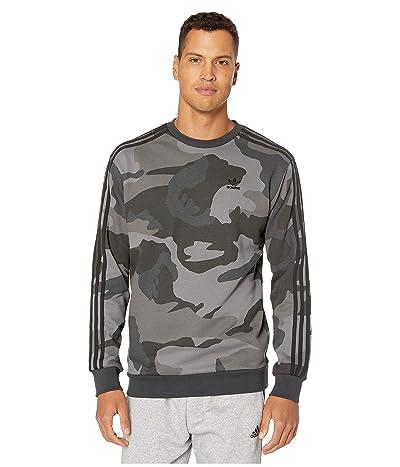 adidas Originals Camo Crew Neck Sweatshirt (Multicolor/Carbon) Men