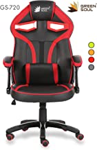 Green Soul Alien Series PU Leather and Mesh Gaming/Desk Chair (Medium, Black and Red)
