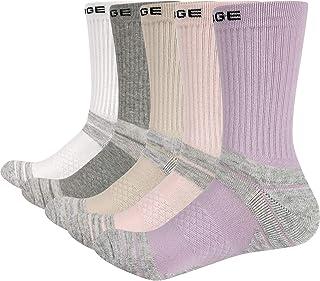 YUEDGE, 5 Pares Mujer Calcetines de deporte Algodón Calcetines de Senderismo Absorbente Transpirables para Caminar, todo el año