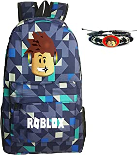 Roblox Backpack For Boys or Girls With Free Roblox Gift Roblox Wristband (Aqua)