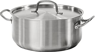 Tramontina 80117/576DS Pro-Line Stainless Steel Covered Dutch Oven, 9-Quart, NSF-Certified