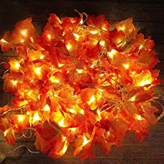 5 Pack Maple Leaves Garland String Lights,Thanksgiving Decorations Fall String Lights..
