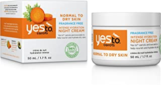 Yes To Carrots Normal To Dry Skin, Fragrance Free, Intense Hydration Night Cream, 1.7 Oz