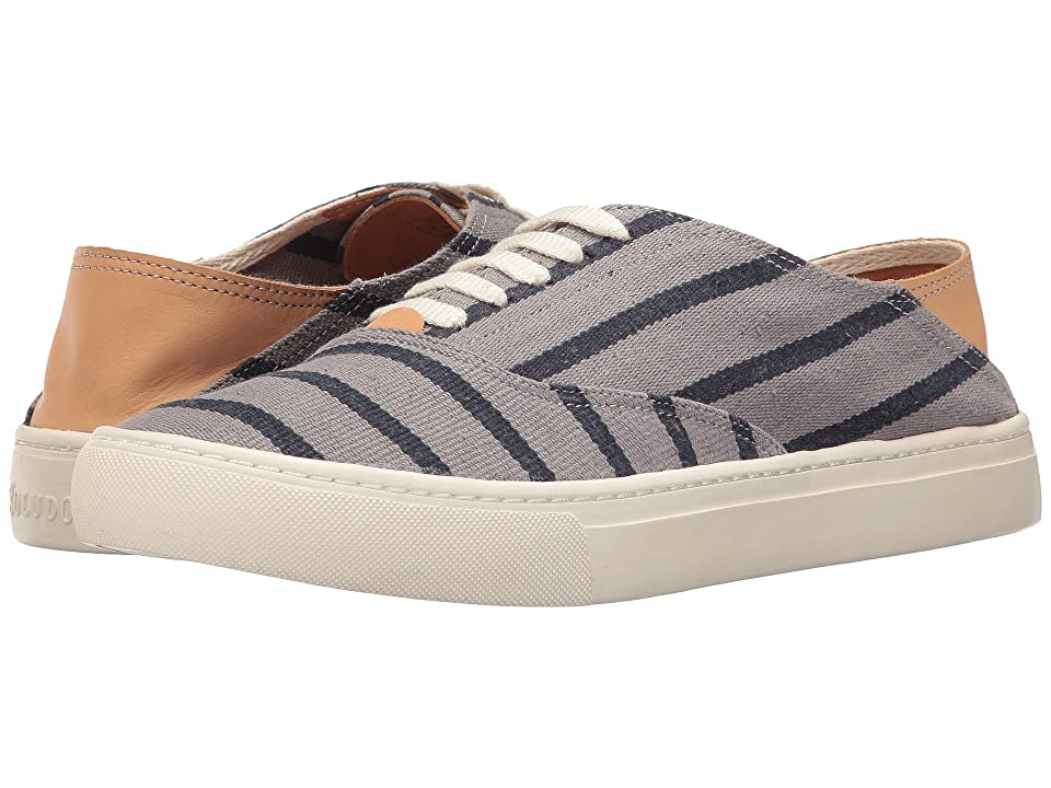 Soludos Striped Classic Sneaker (Gray/Navy) Men