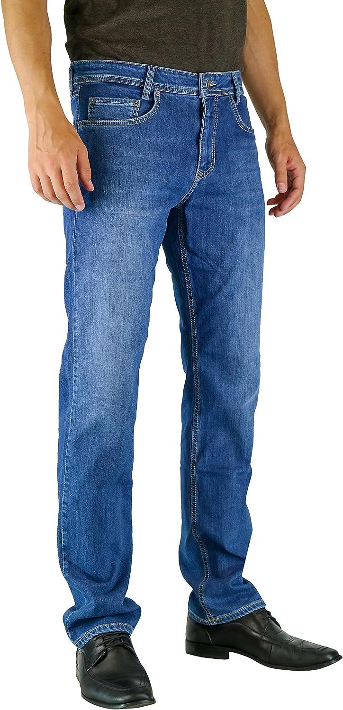 Mac heren jeans arm Straight Fit Light Blue Stonewash H424