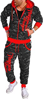 DeHolifer Trainingsanzug Fitness Bekleidung Herren Trainingsanzug Herren Sportanzug Herren Sportanzug Jogginganzug f/ür Herren Gym Herren S-3XL