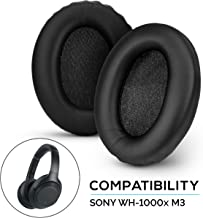 Brainwavz Earpads for Sony WH1000XM3 - Includes Foam Inserts, Memory Foam & Soft Faux Leather Material, Upgraded WH-1000XM3 Ear Pads, Black