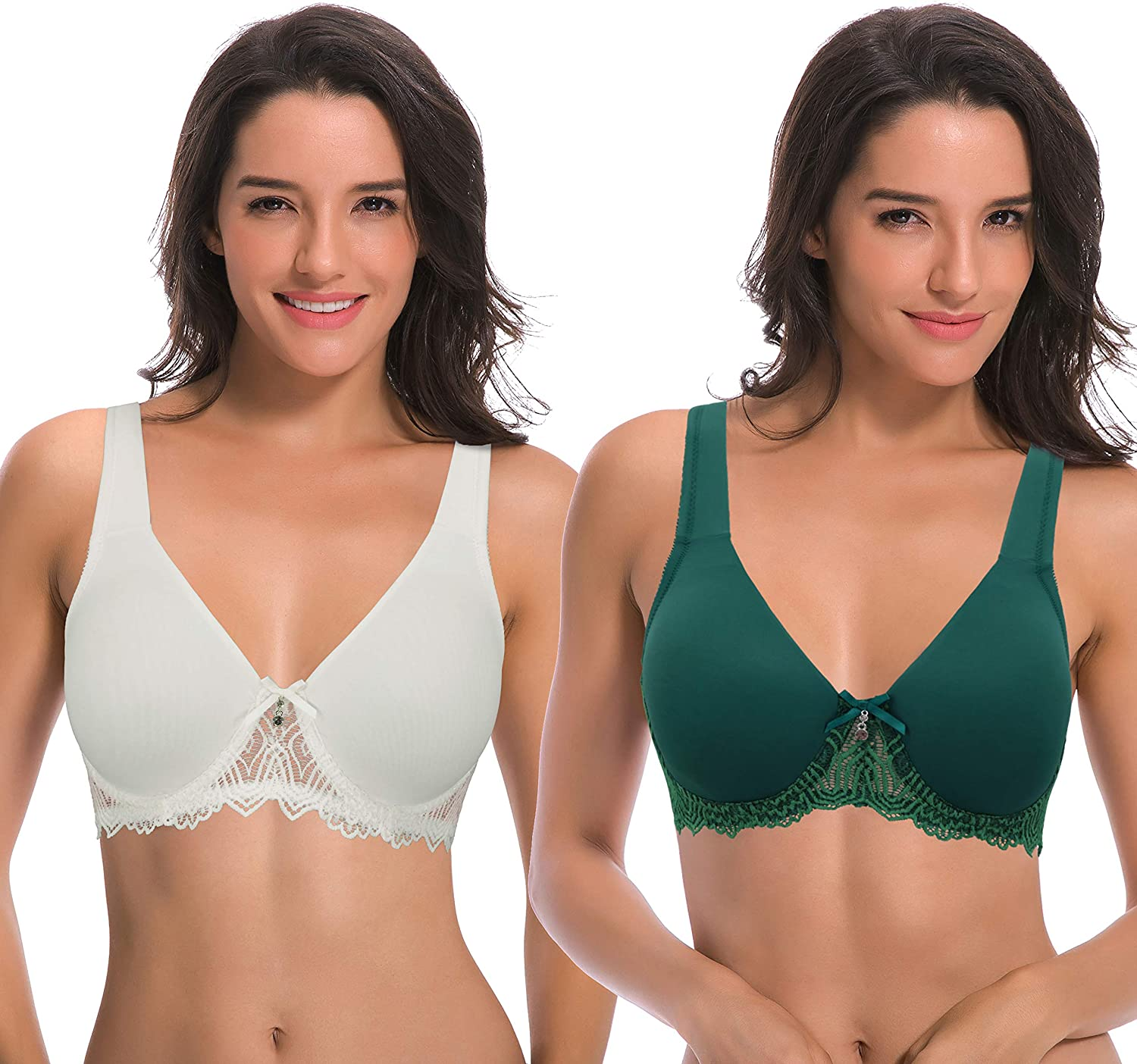 Curve 新着 Muse Women's Plus Size Unlined Cus Lace with Bra Underwire 公式ショップ