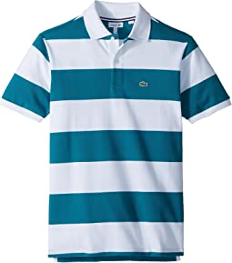Lacoste Kids - Bicolor Striped Pique Polo (Infant/Toddler/Little Kids/Big Kids)