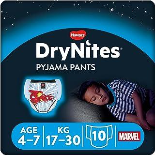 Huggies DryNites - Pyjama Pants - Pañales para niños (4 - 7 años), 17-30 kg, pack de 10 unidades