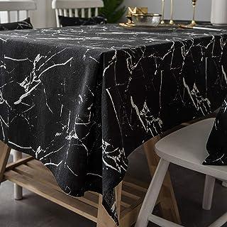 YUANYOU - Tovaglia da pranzo con stampa in marmo, colore puro, in cotone e lino, per la casa, la cucina, il tavolino da ca...