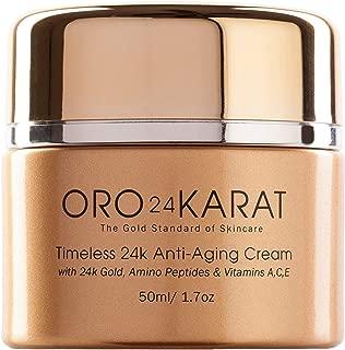 ORO24KARAT 24k Gold Anti-Aging Cream with Vitamins, Hyaluronic Acid, Retinol