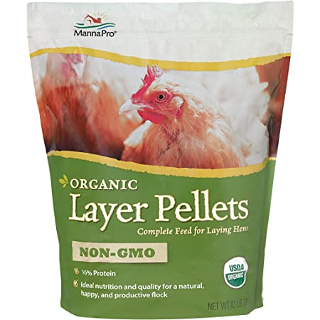 Manna Pro Layer Pellets for Chickens   Non-GMO & Organic High Protein Feed for Laying Hens