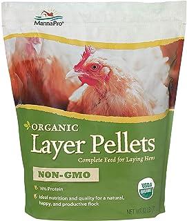 Manna Pro Organic Layer Pellets | Non-GMO & USDA Certified Organic | 10 Pounds