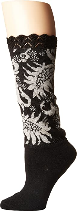 Scalloped Feathers Crew Bootie Topper