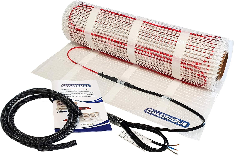 0,5 m/² - 0,5 x 1 m Kit complet chauffage au sol /électrique Ecofloor 160 W//m2 avec thermostat num/érique TFT WLAN blanc