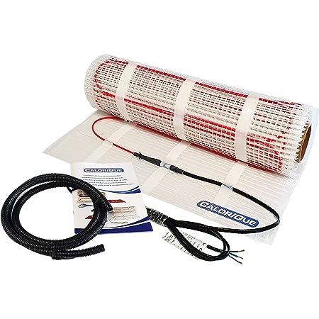 CALORIQUE Estera De Cable De Calefacción Eléctrica - Diferentes Tamaños - 1,0m² - Calefacción Eficiente Por Suelo Radiante Eléctrico 200 W/m² - Tecnología TWIN - Fuentes De Energía Renovables