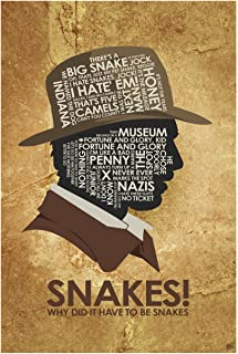 WHY DID IT Have to BE Snakes Word Art Print Poster (12