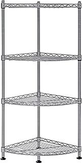 Muscle Rack WSCR121235-4S 4-Shelf Steel Wire Corner Shelving Unit, 12