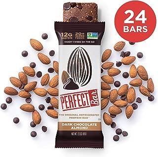 Perfect Bar Original Refrigerated Protein Bar, Dark Chocolate Almond, Almond Butter, 12g Whole Food Protein, Gluten Free & Non-GMO, 2.2 Oz. Bars (24 Bars)