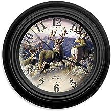 "Reflective Art Sage Sunset Wall Clock, 10"""