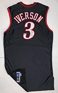 Allen Iverson Autographed Philadelphia 76ers Jersey. Signed. Beckett Authentication BAS COA.