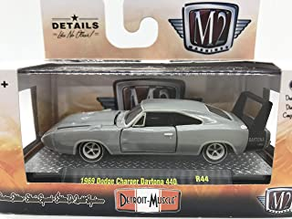 M2 Machines by M2 Collectible Detroit-Muscle 1969 Dodge Charger Daytona 440 Error Chase Car Mislabeled as 1 of 7000 R44 18-22 Gray Details Like NO Other!