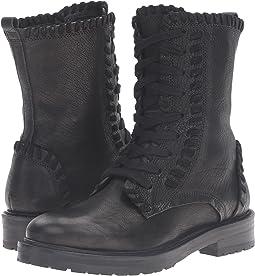 Contrast Stitch Combat Boot