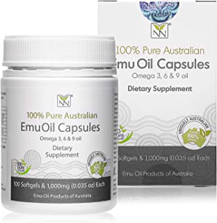 Y-Not Natural - 100% Pure Emu Oil Capsules 1000mg (100 Caps) | Pharmaceutical Grade Dietary Supplement for Heart Health, J...