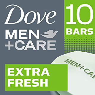 Dove Men+Care Body and Face Bar Extra Fresh 4 oz, 10 Bar