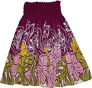 Colors of Rainbow Hawaiian Pa'u Hula Skirt Pink Hawaii Flower